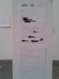 """Wunschkunstwerk soll mittelformatig für die Ausstellung """"Heiligabend"""" in der Galerie Huren & Söhne sein"""