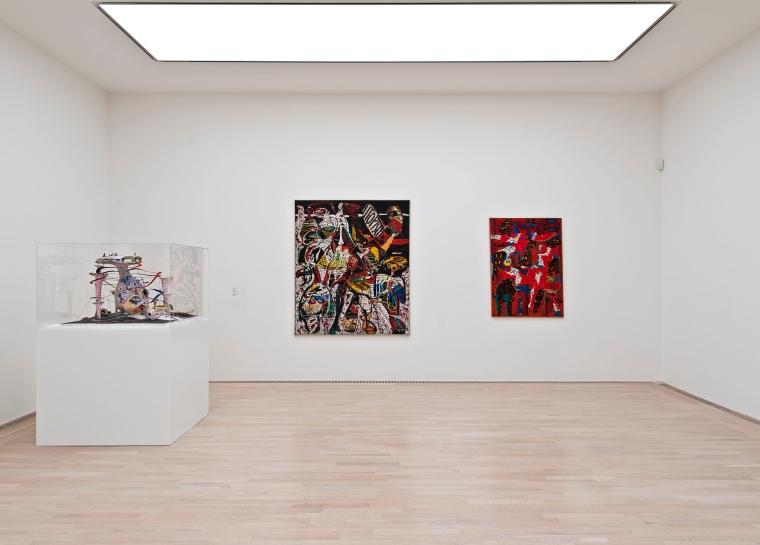 """Installationsansicht """"So ein Ding muss ich auch haben"""" Gruppe Spur, Spurbau, 1963 Städtische Galerie im Lenbachhaus und Kunstbau, München Foto: Lenbachhaus"""