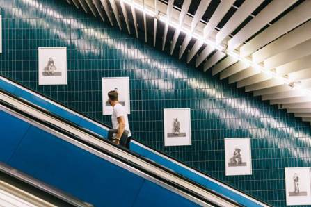 Plakataktion mit Cindy Sherman, Untitled # 363-377, Installationsansicht Marienplatz, Fotos: Thomas Dashuber, Courtesy Sammlung Goetz, München